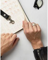 ASOS - Metallic Coil Ring In Silver for Men - Lyst