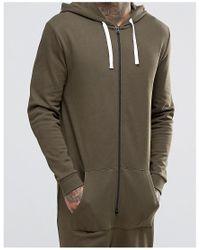 ASOS - Green Onesie In Khaki for Men - Lyst