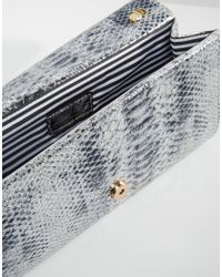 Yoki Fashion - Metallic Yoki Faux Croc Clutch Bag - Lyst