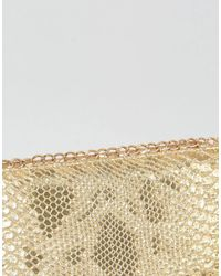 Yoki Fashion - Metallic Yoki Faux Reptile Print Purse - Lyst