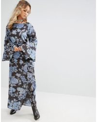 Free People   Blue Melrose Floral Maxi Dress   Lyst