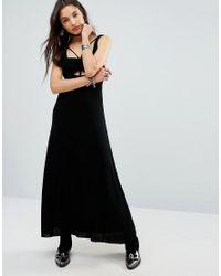 Free People | Black Hypnotized Cut Out Harness Maxi Dress | Lyst