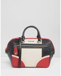 Love Moschino | Black Colourblock Handheld Tote Bag | Lyst