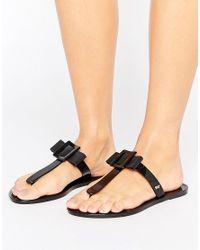 Zaxy | Black Tbar Thongs | Lyst