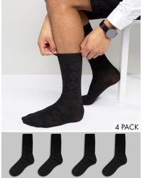 Jack & Jones | Black Socks 4 Pack for Men | Lyst