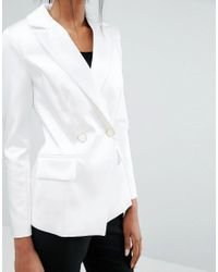 Closet - Closet Lapel Two Button Jacket - White - Lyst