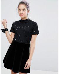 Lazy Oaf | Black Pizza Spot T-shirt | Lyst