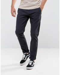 Only & Sons - Blue Chino In Slim Fit for Men - Lyst