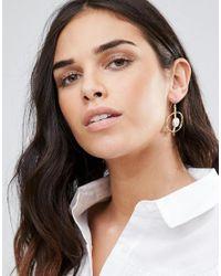 Ashiana - Metallic Marble Effect Hoop Drop Earrings - Lyst