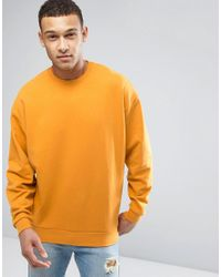 ASOS | Oversized Sweatshirt In Yellow for Men | Lyst