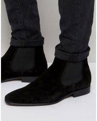 KG by Kurt Geiger | Black Francis Suede Chelsea Boots for Men | Lyst