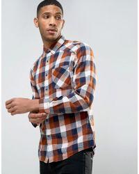 Esprit   Natural Shirt In Slim Fit Check for Men   Lyst