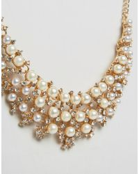 Ruby Rocks - Metallic Occasion Pearl Detail Necklace - Lyst