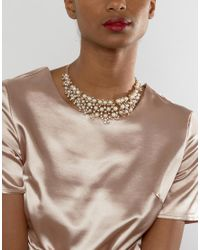 Ruby Rocks | Metallic Occasion Pearl Detail Necklace | Lyst