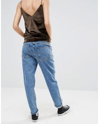 Pull&Bear - Blue Light Wash Mom Jean - Lyst