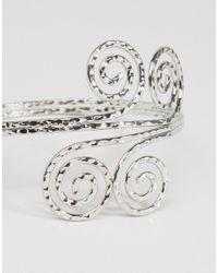 ASOS - Metallic Spiral Arm Cuff - Lyst