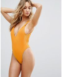 Minimale Animale | Yellow High Leg Swimsuit | Lyst