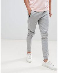 Jack & Jones - Gray Core Slim Joggers for Men - Lyst