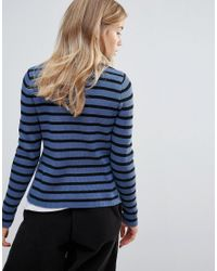 Ganni - Blue Morissette Striped Long Sleeve Jumper - Lyst