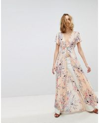Free People - Pink Deevine Open Maxi Layering Top - Lyst