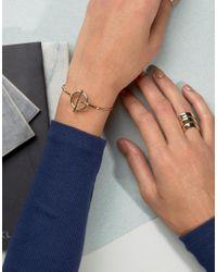 ASOS - Metallic Limited Edition Toggle Cuff Bracelet - Lyst