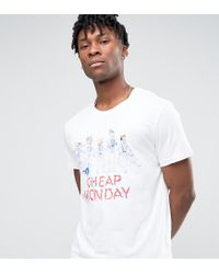 Cheap Monday - White Skeleton Family T-shirt for Men - Lyst