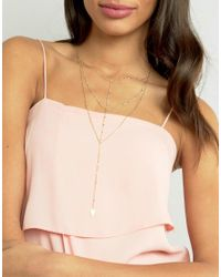 ASOS - Metallic Limited Edition Multirow Triangle Chain Necklace - Lyst