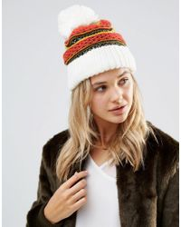 Free People | Multicolor Snow Bound Pom Pom Beanie Hat | Lyst