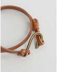 ASOS - Brown Necklace And Bracelet Set With Hook Design for Men - Lyst