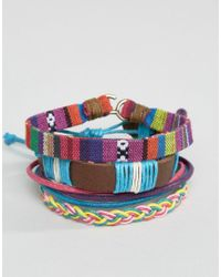 ASOS | Multicolor Bracelet Pack In Multi Colour | Lyst