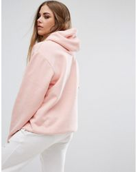 Criminal Damage - Pink Oversized Hoodie With Tonal Logo - Lyst