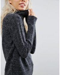 Blend She - Gray Nette Funnel Neck Sweater - Lyst