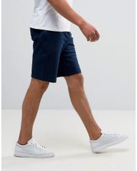 Armani Jeans - Blue Sweat Shorts Regular Fit In Navy for Men - Lyst