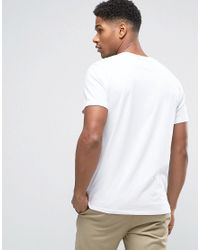 Abercrombie & Fitch - T-shirt Flock Logo In White for Men - Lyst