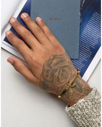 Mister - Metallic Axle Anchor Bangle Bracelet In Gold for Men - Lyst