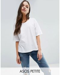 ASOS | White T-shirt In Linen Mix Fabric | Lyst