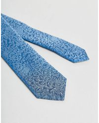 Noose And Monkey - Blue Wedding Tie In Floral for Men - Lyst