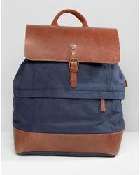 Timberland | Blue Leather Trim Backpack Navy for Men | Lyst