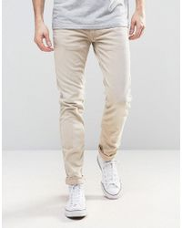 Replay   Natural Anbass Slim Fit Jean Colour Sand for Men   Lyst