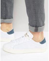 lyst adidas originali corte vantage formatori in bianco s76199 in