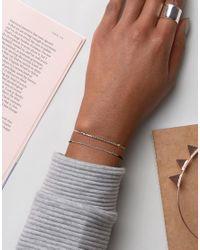 ASOS - Multicolor Pack Of 2 Fine Friendship Bracelets - Lyst