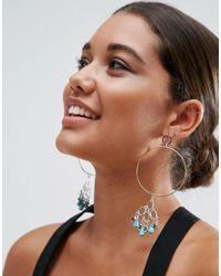 ASOS | Blue Festival Bead Hoop Earrings | Lyst