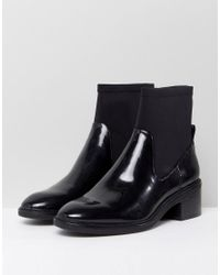 Bershka Vinyl Chunky Shoe Boot
