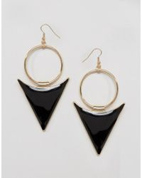 ALDO - Black Gorgone Drop Earrings - Lyst