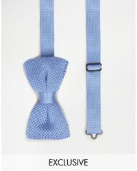 Noose And Monkey | Blue Knitted Bow Tie for Men | Lyst