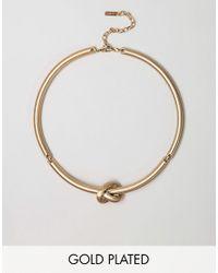 Pilgrim - Metallic Knot Twist Structured Necklace - Lyst
