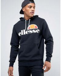 Ellesse | Black Hoodie With Classic Logo for Men | Lyst