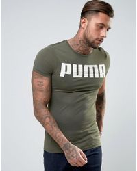 1a5b571ce5a Lyst - Puma Longline Muscle Fit T-shirt In Khaki in Green for Men