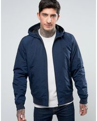 Fred Perry | Blue Brentham Mesh Lined Jacket In Navy for Men | Lyst