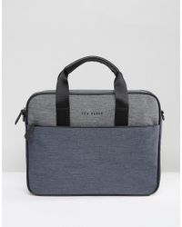 01b3c4697837a Ted Baker Document Bag in Blue for Men - Lyst